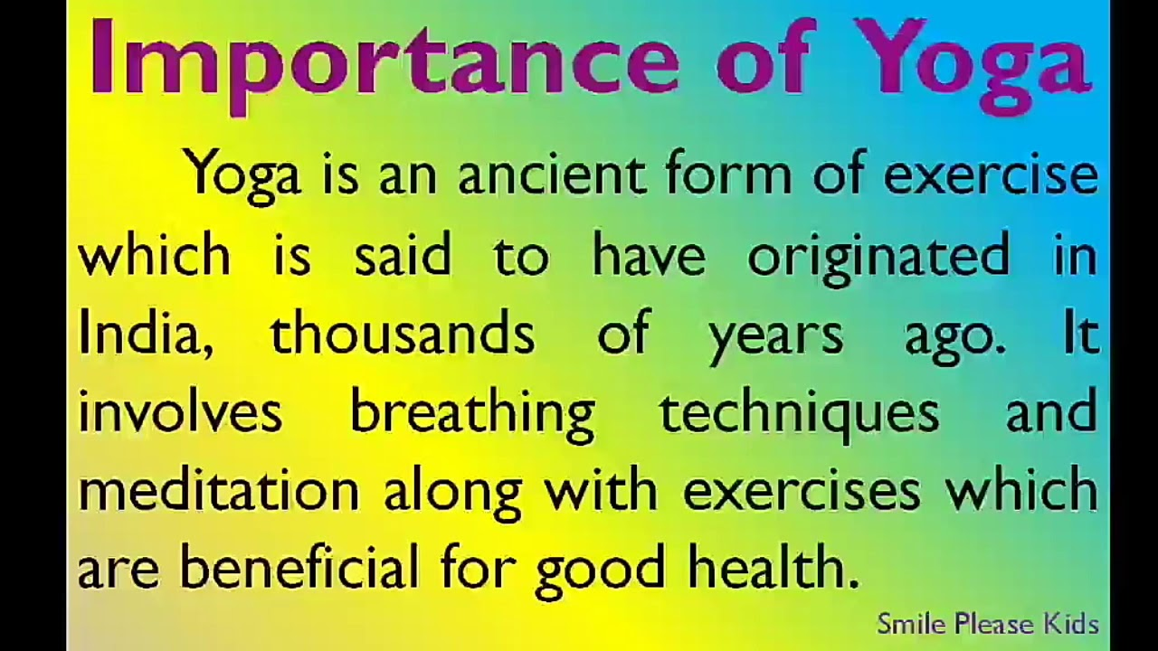 Essay On Importance Of Yoga In English For Higher Secondary Students Importance Of Yoga Essay Youtube