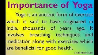Essay on importance of yoga #essayonimportanceofyoga #importanceofyogaessay #importanceofyoga #essayonyoga #yoga