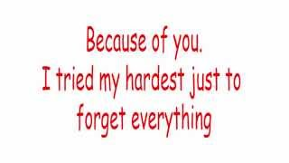 Lirik Lagu Kelly Carkson-Because Of You