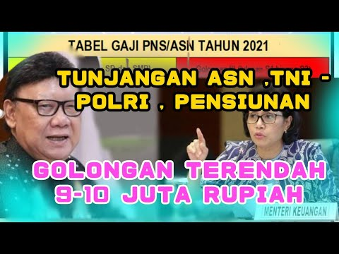 Download TUNJANGAN TERBARU CAIR ASN / PNS TERIMA UANG PALING KECIL RP 9-10 JUTA RUPIAH, PENSIUNAN GIMANA?