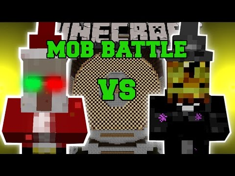 CHRISTMAS WITCH VS HALLOWEEN WITCH - Minecraft Mob Battles - Minecraft Mods