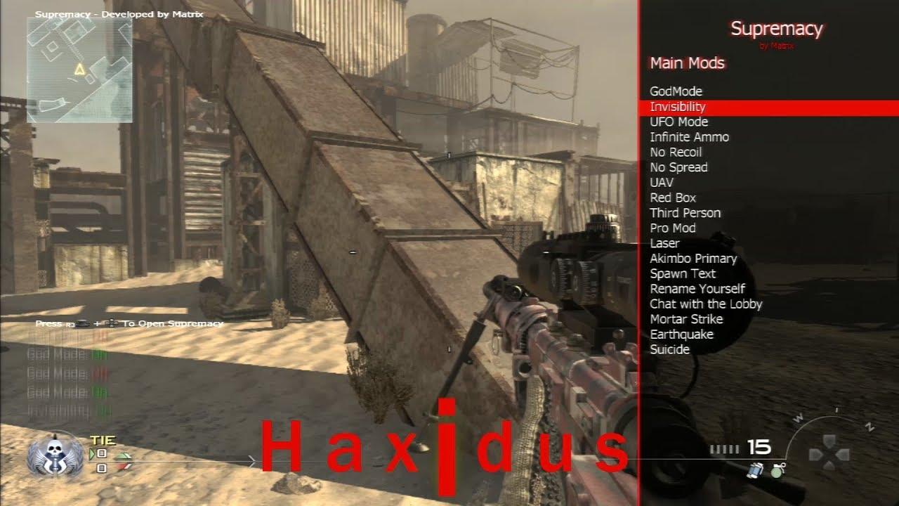 Mw2 | Supremacy [1 19] SPRX Mod Menu by Haxidus