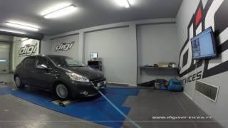 Peugeot 208 1.4 HDI 70cv Reprogrammation Moteur @ 93cv Digiservices Paris 77 Dyno