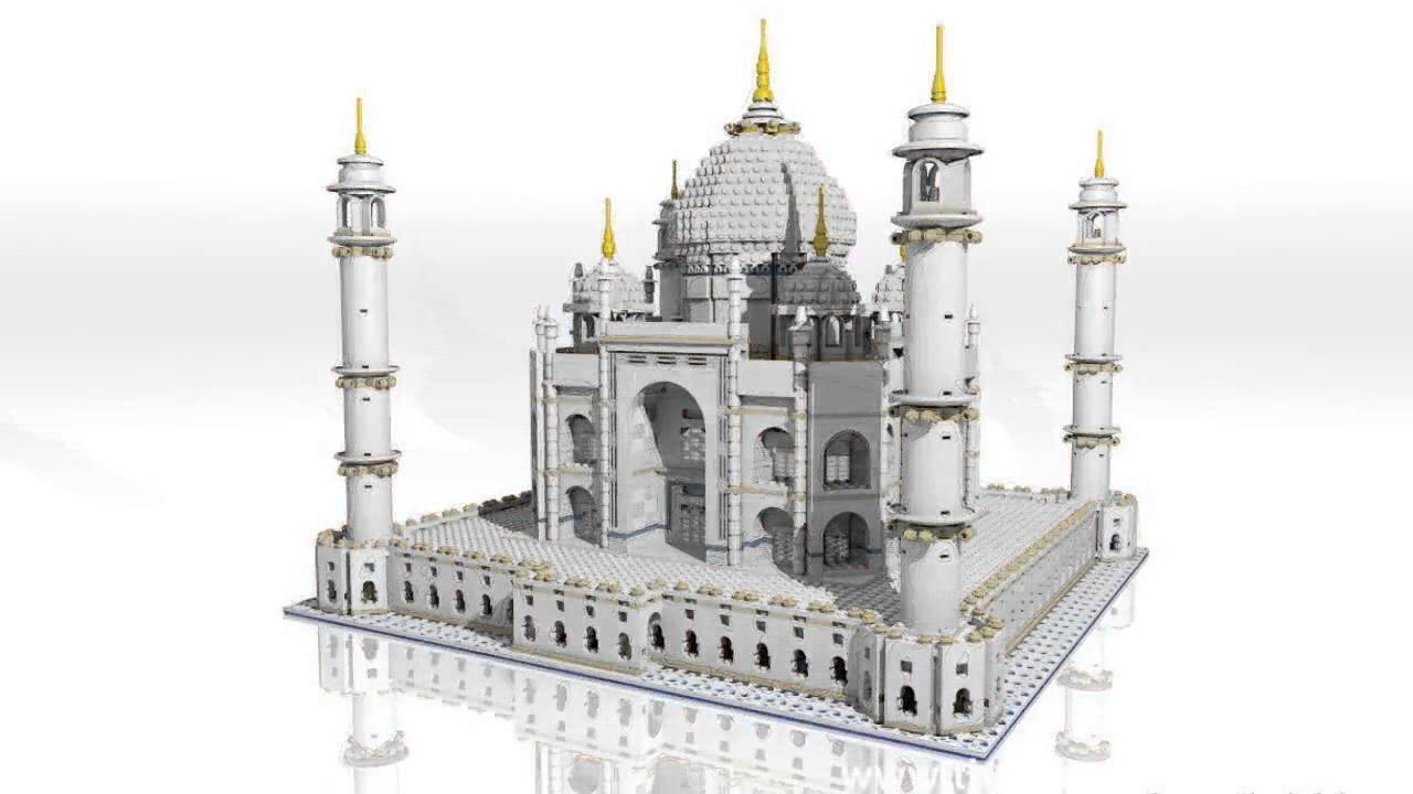 lego taj mahal architecture studio creator build tower animated fountain sets bridge series trevi cgi