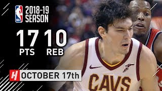 Cedi Osman Full Highlights Cavaliers vs Raptors 2018.10.17 - 17 Pts, 10 Reb