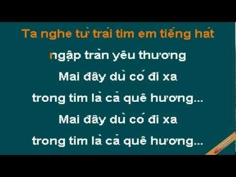 Mot Thoang Que Huong Karaoke - Hồng Nhung - CaoCuongPro