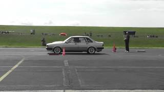 Audi 80 Turbo Quattro vs. Opel Ascona B 2,5l Kompressor/Nos Bitburg 2012 1/4 Meile 1on1