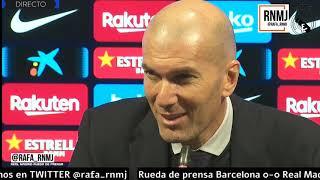 Barcelona 0-0 Real Madrid Rueda de prensa de ZIDANE post CLASICO (18/12/2019)