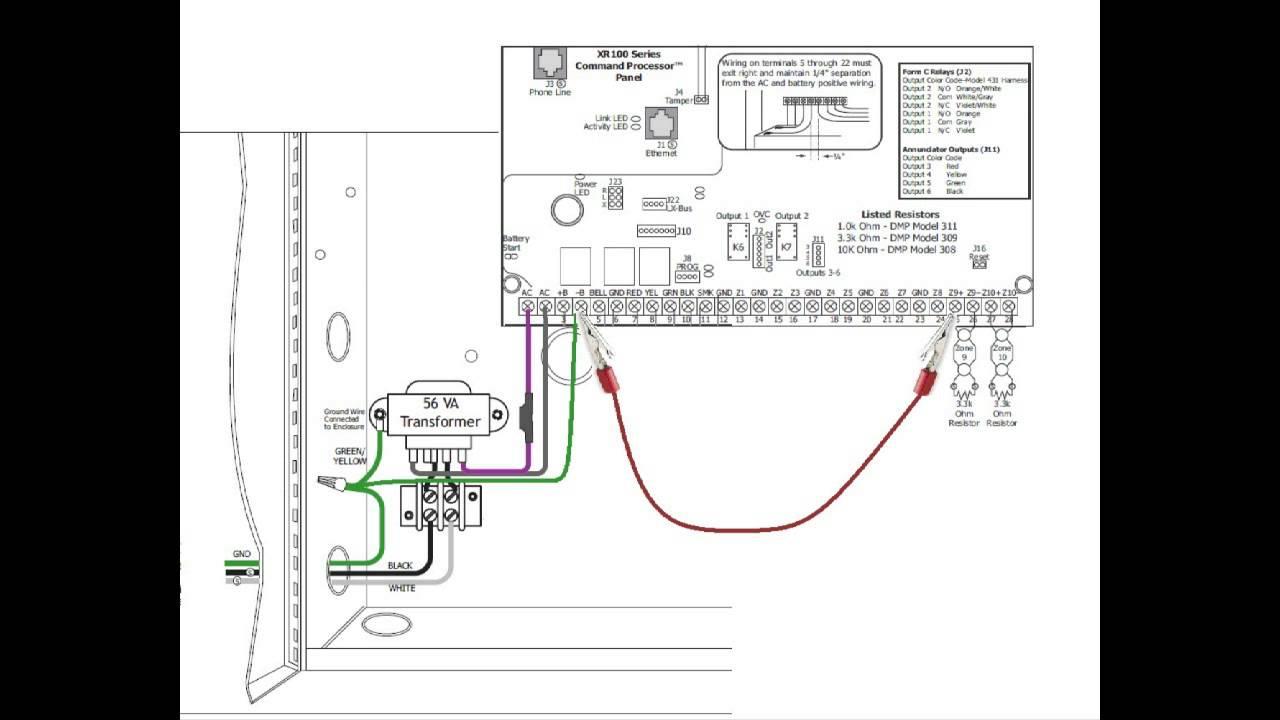 ground fault dmp youtube dmp xr500 user manual at Dmp Fire Alarm Wiring Diagrams