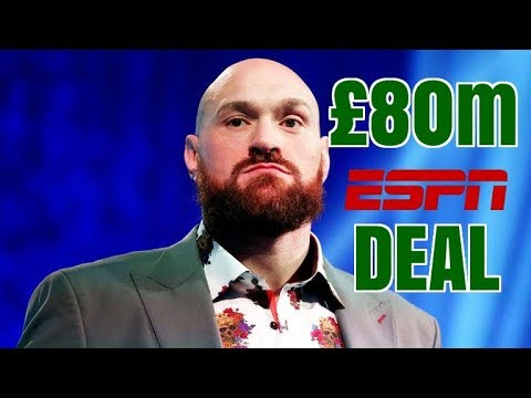 TYSON FURY SIGNS £80M ESPN CONTRACT : GREAT FOR FURY BAD FOR ...