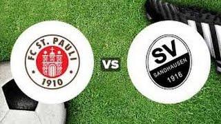 Fc sankt pauli vs sv sandhausen (2-1) ~ all goals hd