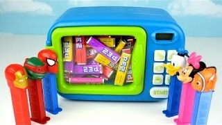 Just Like Home Toy Microwave Oven Play Kitchen Magic Children Kids Toddler Mickey Mouse Spider-Man