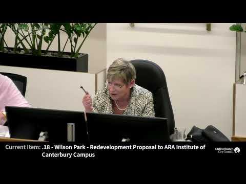 07.12.2017 - Item 18 - Wilson Park - Redevelopment Proposal to ARA Institute of Canterbury Campus