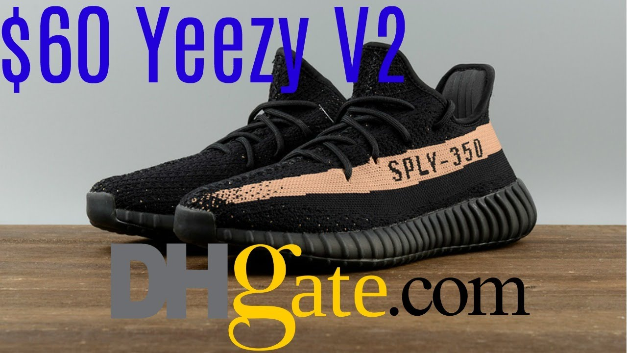 new styles fef38 336ff $60 DHGATE YEEZY V2 UNBOXING + ON FOOT