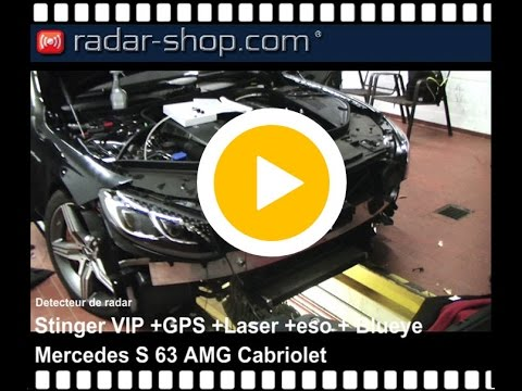 detecteur de radar installation mercedes s63 amg cabriolet youtube. Black Bedroom Furniture Sets. Home Design Ideas