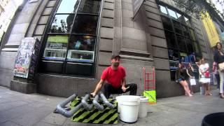 "El-Loren ""Street Drummer""@Madrid 2015.Pvc Instrument. House.Techno."