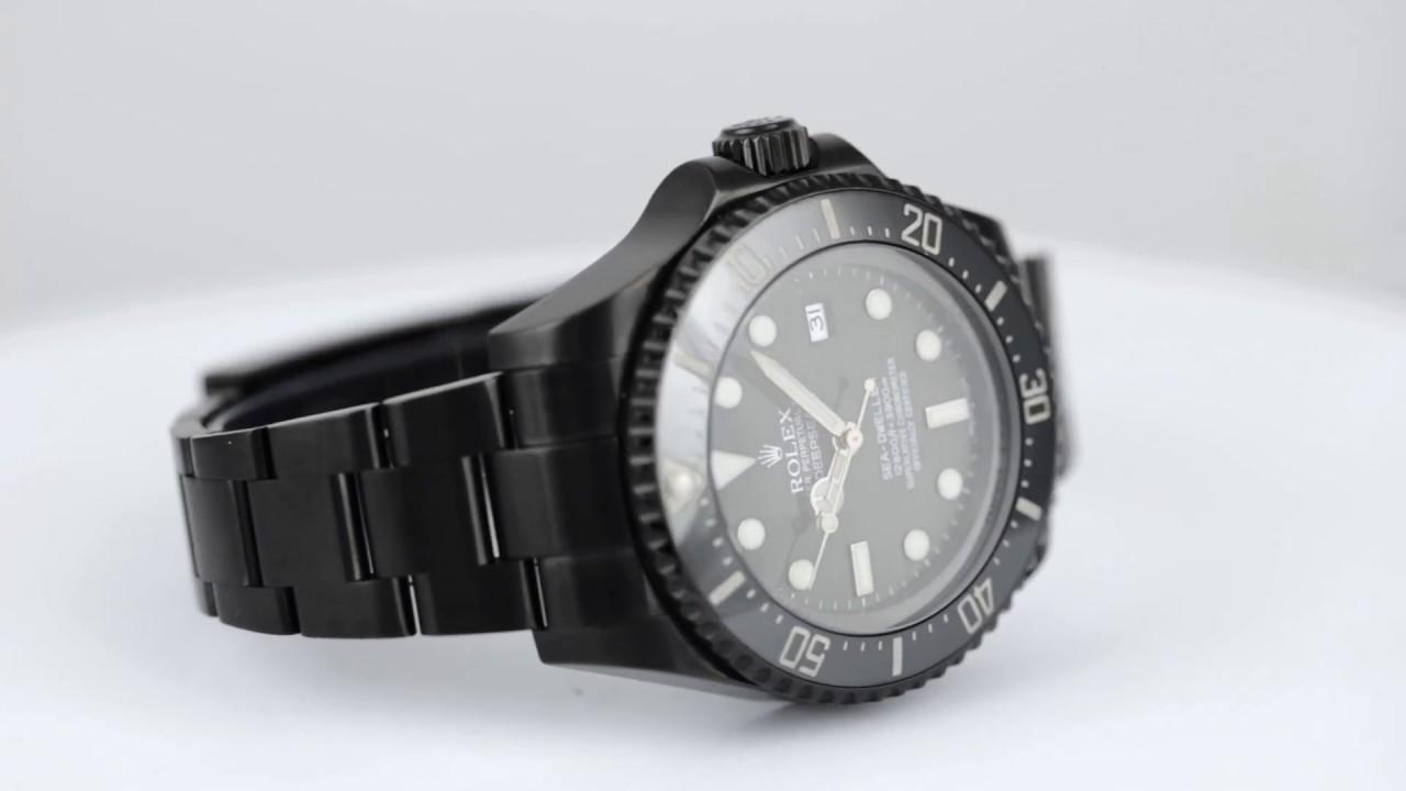 3392293ee51 Rolex Deepsea Sea-Dweller Custom Black PVD 116660 - Time 4 Diamonds ...