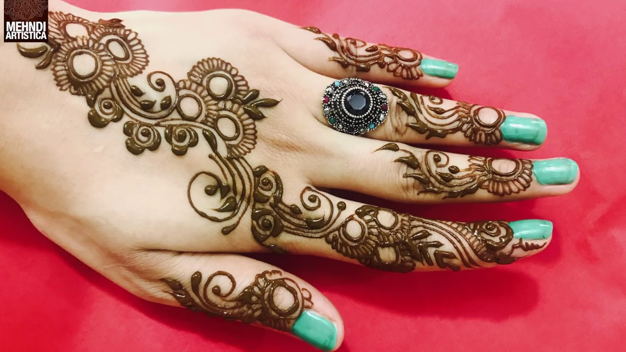 circular mehndi designs for hands arabic gol tikka with