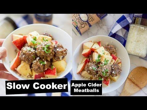 Slow Cooker Apple Cider Meatballs Video