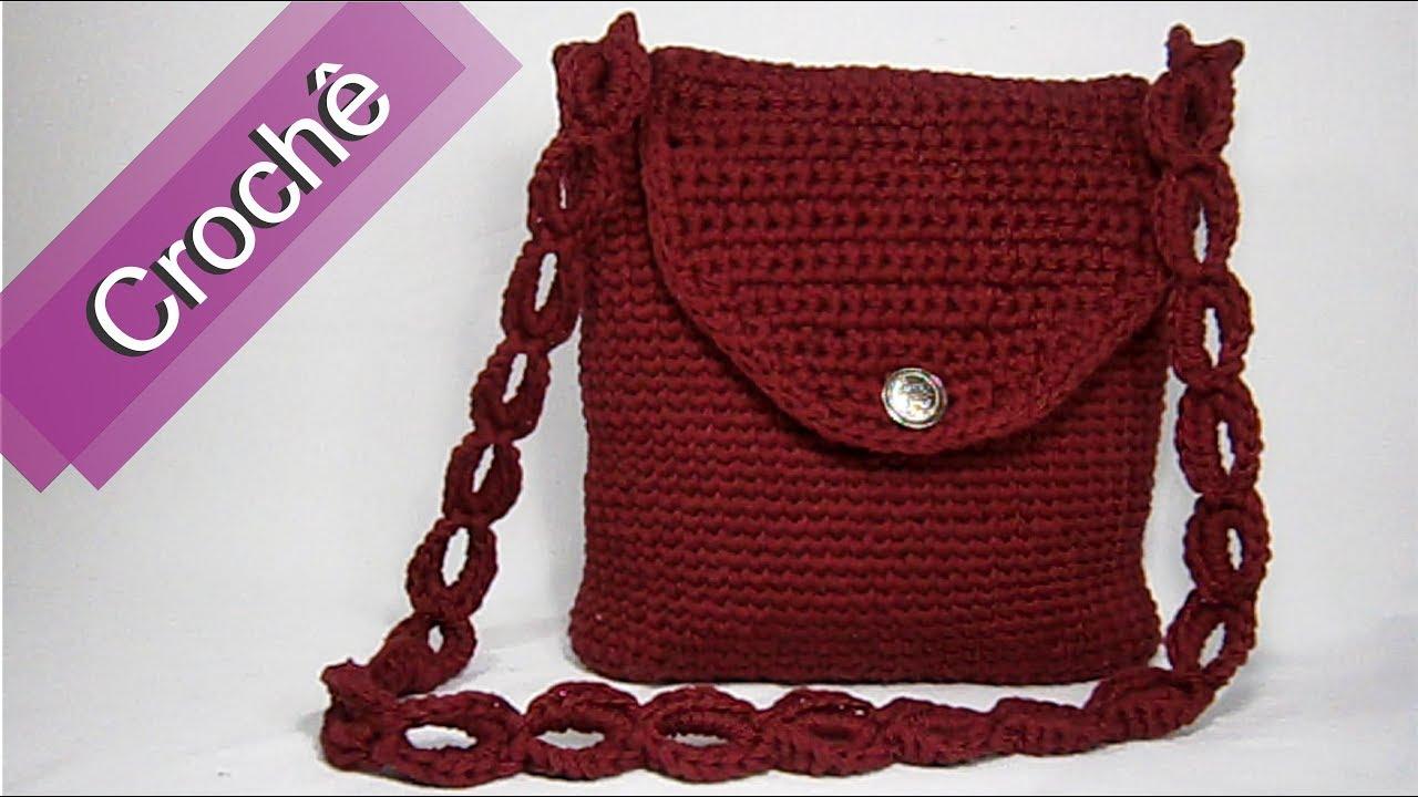 660049380 DIY - Crochê - Bolsa Retangular (Passo a Passo) Mari Trentini - YouTube