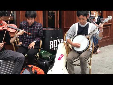 Five Japanese guys playing traditional Irish music in Drogheda Fleadh Ceol 2018