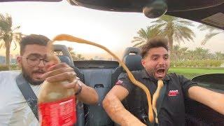 مقلب البيبسي مع المنتوس في سيارتي !! 😱🔥
