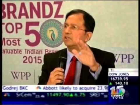 Anupam Mittal on CNBC Brandz Top 50 Most Valuable Indian Brands 2015