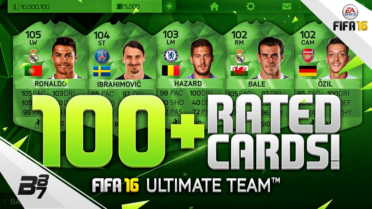100 rated special cards w 105 rated ronaldo fifa 16 youtube. Black Bedroom Furniture Sets. Home Design Ideas