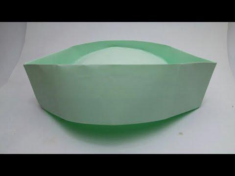 Origami Indian cap - Gandhi cap - new design