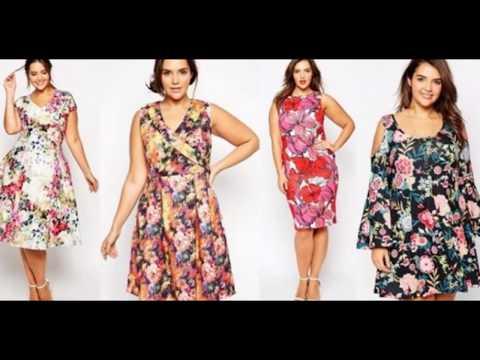 Платья и сарафаны с цветами для полных дам