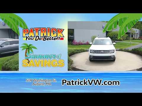 Patrick Volkswagen Summer of Savings - June 2019 Atlas & Tiguan Lease Offers
