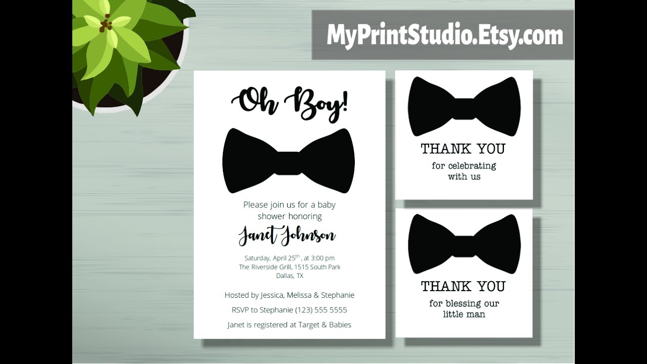 Baby Shower Invitation Template In Microsoft Word Youtube