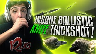 INSANE BALLISTIC KNIFE TRICKSHOT!! (CALLED IT)