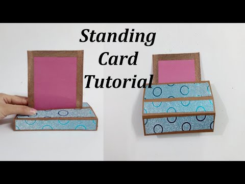 How to make Standing Card | Standing Card for Scrapbook | Standing Card Tutorial by Craftoholic s