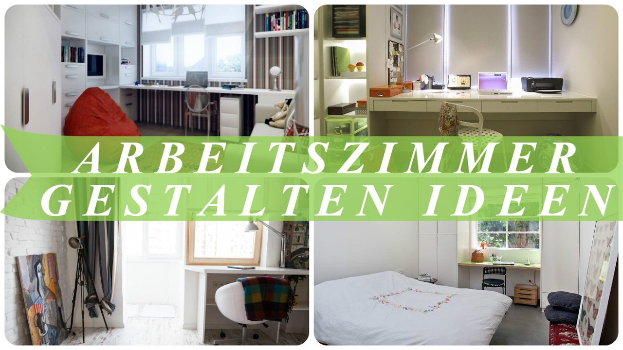 arbeitszimmer gestalten ideen youtube. Black Bedroom Furniture Sets. Home Design Ideas