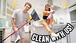 COUPLES CLEAN THE APARTMENT! Aka us fighting for 6 minutes straight.