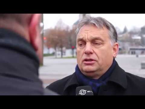 Viktor Orban's Interview on Lithuanian Armed Forces Day in Vilnius 23 11 2014