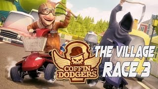 Coffin Dodgers Walkthrough Gameplay Detonado Story Mode - The Village Race 3 - No Commentary PC