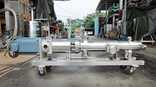 High Quality Liquid Cosmetic Transfer Screw Pump food grade sanitary pumps for high viscosity cream