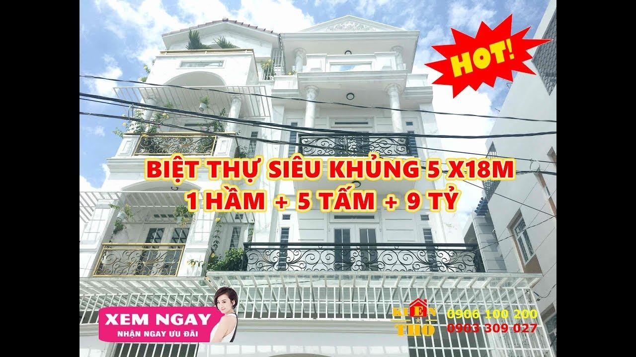 Bán nhà Gò Vấp| 9tỷ BIỆT THỰ KHỦNG 1 hầm 5 Lầu 5x18m🏡605[Bán,Nhà,Đất,Gò Vấp,Sài Gòn,Nha,Ban,Go Vap.