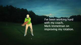 Professional Golfer Christian Ries- Driver Swing Front