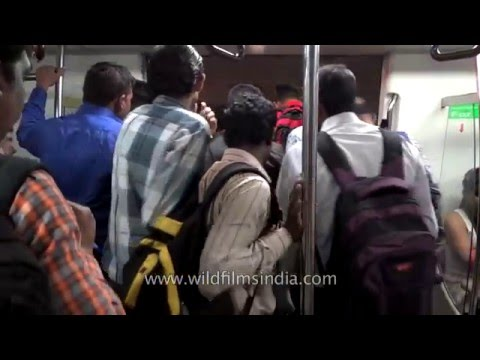 Public Transport In India:  Delhi Metro Runs On Time, But Is Crowded