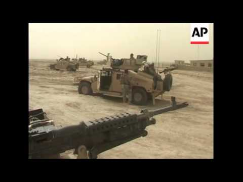 US and Afghan forces on patrol to clear area of Taliban
