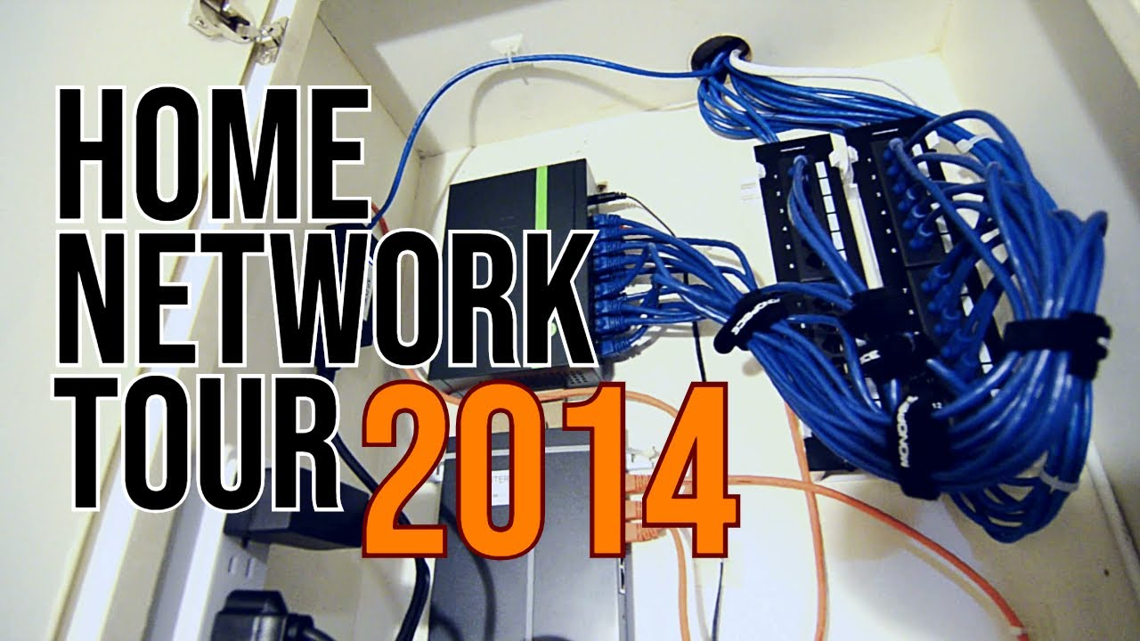For Cat 6 Cable Wiring Router To Router Diagram Tour Of My Home Network 2014 Youtube