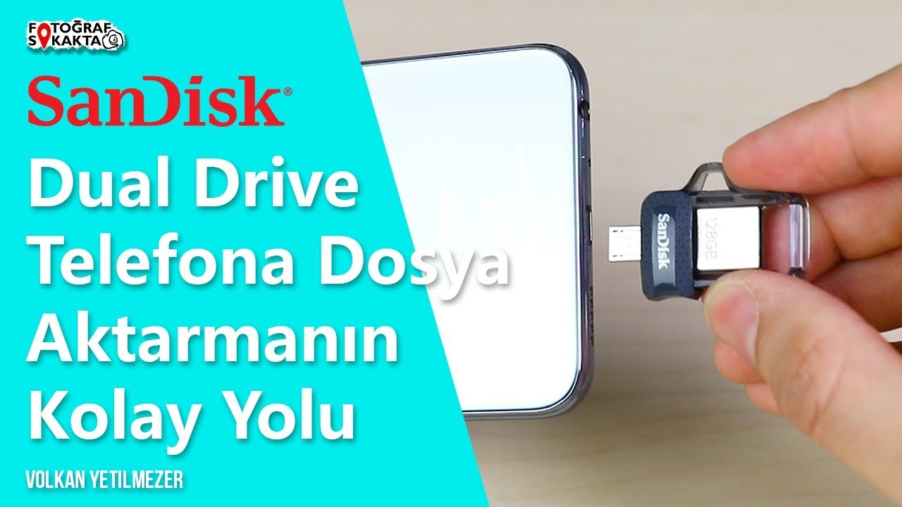 Telefona Dosya Aktarmanın Kolay Yolu - SanDisk Dual Drive M 3.0 İnceleme - Volkan Yetilmezer