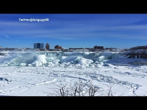Frozen Niagara Falls: Deep Freeze Creates Winter Beauty