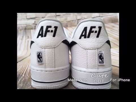 25f92ca0114 Nike Air Force 1 X NBA on foot review - YouTube