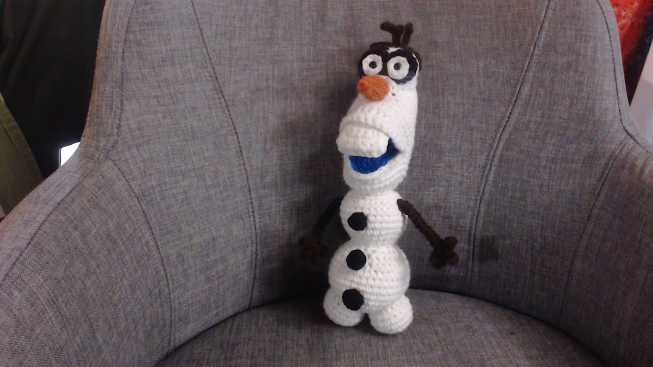 Amigurumi Olaf Tutorial : How to crochet olaf from frozen part 1 youtube