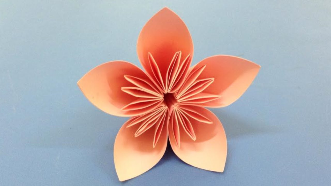 how to make paper flower origami