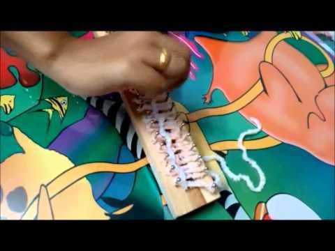 การถักผ้าพันคอด้วยบล็อกไม้   By PlaiFah